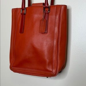 Coach | Red Leather Shoulder Satchel Tagged Purse